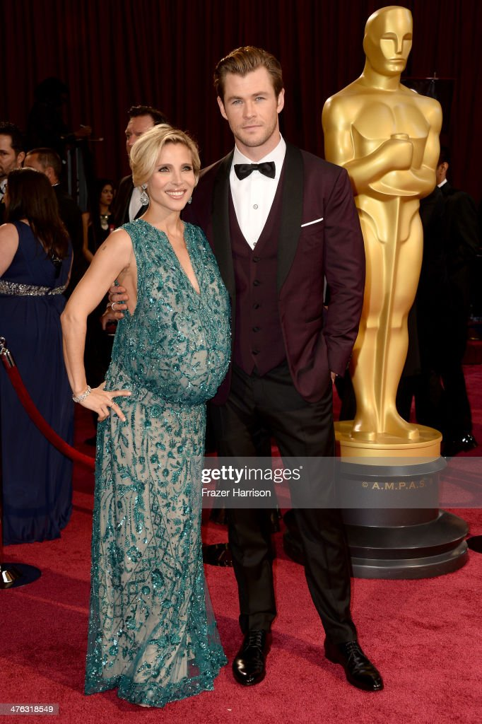 Model Elsa Pataky and actor Chris Hemsworth attend the Oscars held at Hollywood & Highland Center on March 2, 2014 in Hollywood, California.
