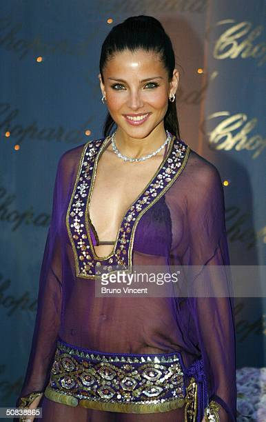 Model Elsa Pataky attends 'The Chopard Trophy' party at Palm Beach on May 14 2004 in Cannes France The party is Chopard's fourth annual awards...