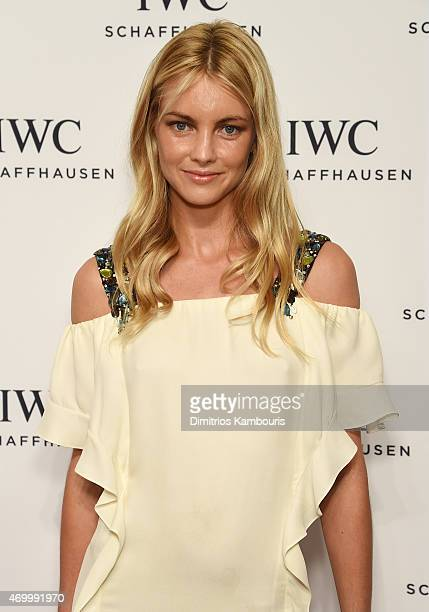 Model Elyse Taylor attends the IWC Schaffhausen Third Annual 'For the Love of Cinema' Gala during the Tribeca Film Festival on April 16 2015 in New...