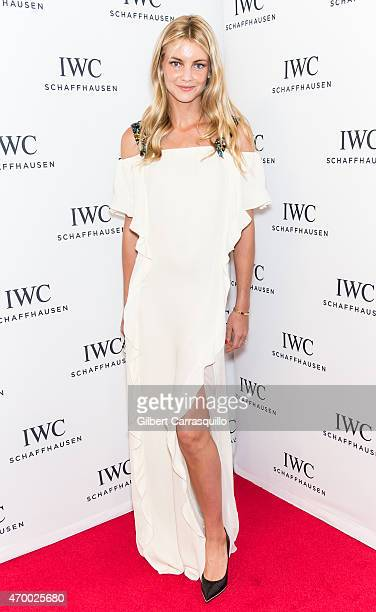 Model Elyse Taylor attends the IWC Schaffhausen third annual 'For the Love of Cinema' dinner during Tribeca Film Festival at Spring Studios on April...
