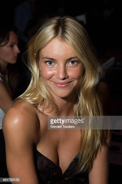 Model Elyse Taylor attends Zimmermann during MercedesBenz Fashion Week Spring 2015 at The Pavilion at Lincoln Center on September 5 2014 in New York...