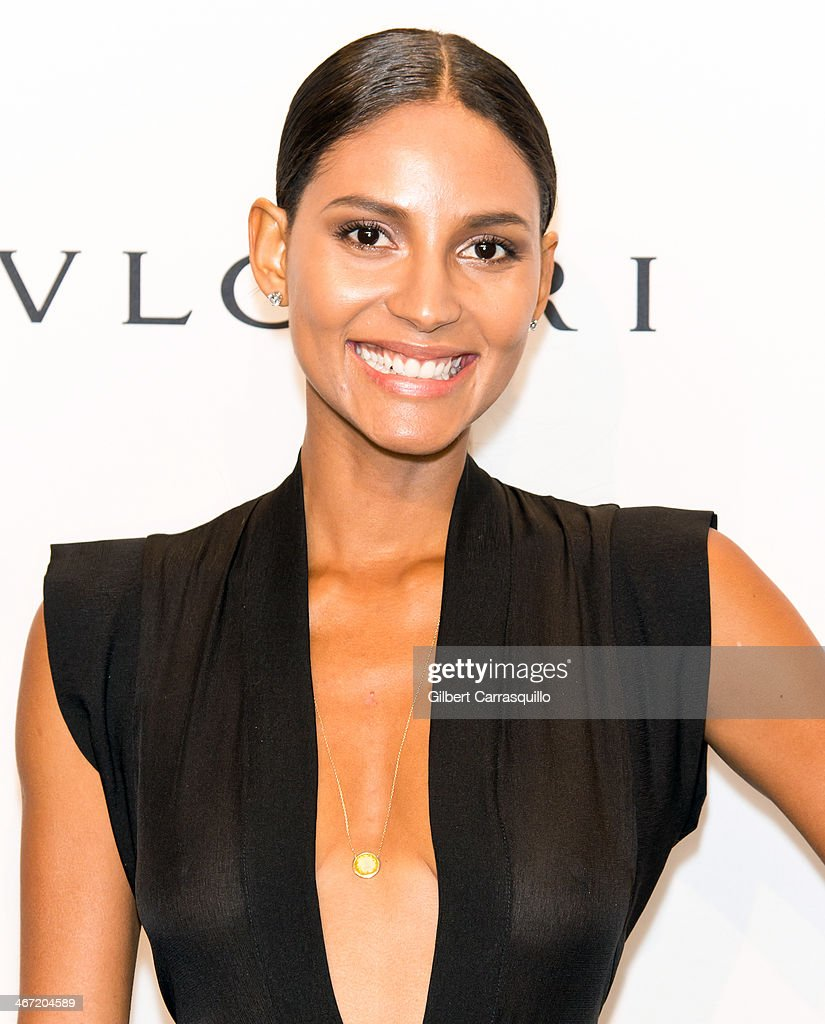 Model Emanuela de Paula attends the 2014 amfAR New York Gala at Cipriani Wall Street on February 5, 2014 in New York City.