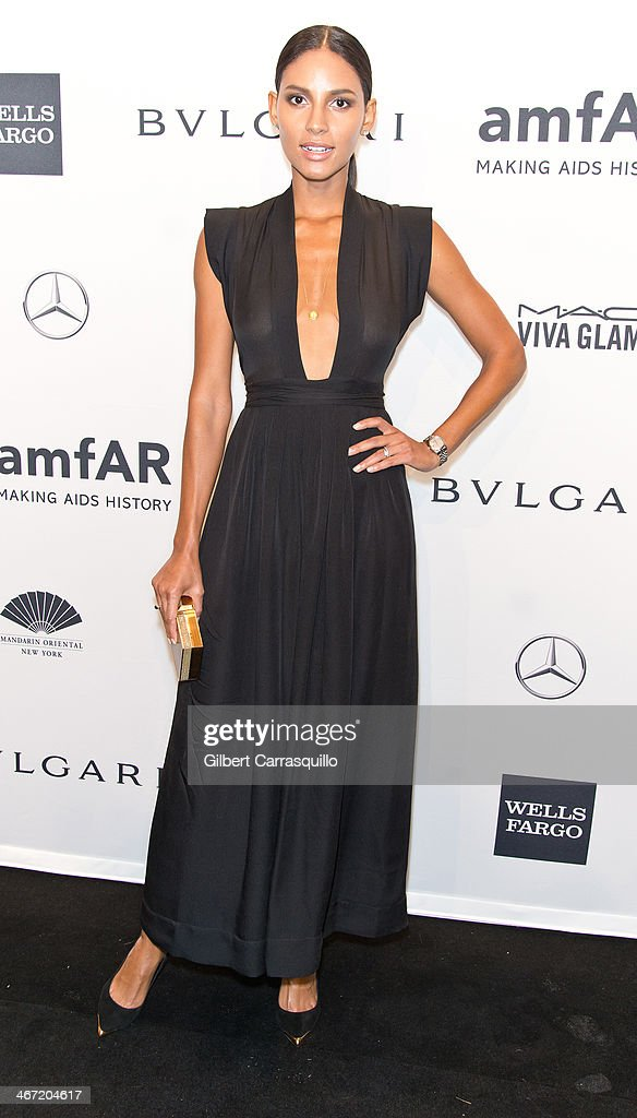 Model Emanuela de Paula attends the 2014 amfAR New York Gala at Cipriani Wall Street on February 5, 2014 in New York City.