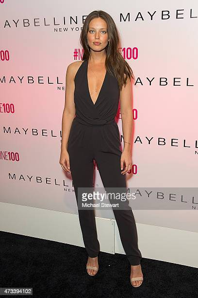 Model Emily DiDonato attends Maybelline New York's 100 Year Anniversary at IAC Building on May 14 2015 in New York City