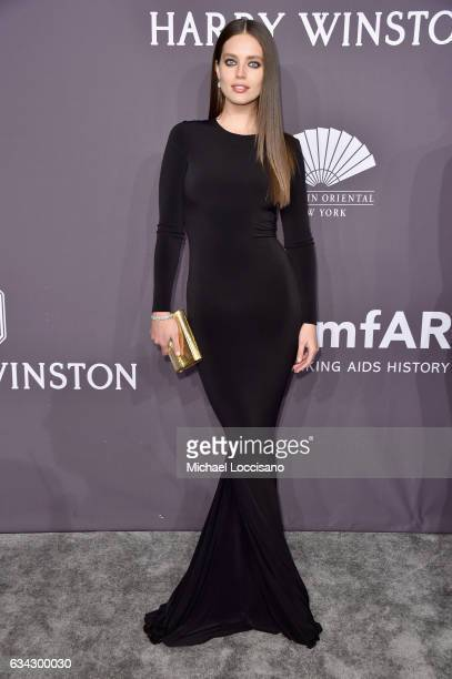 Model Emily DiDonato attends the 19th Annual amfAR New York Gala at Cipriani Wall Street on February 8 2017 in New York City