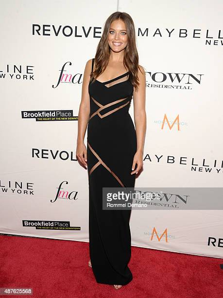 Model Emily DiDonato attends The Daily Front Row's Third Annual Fashion Media Awards at the Park Hyatt New York on September 10 2015 in New York City