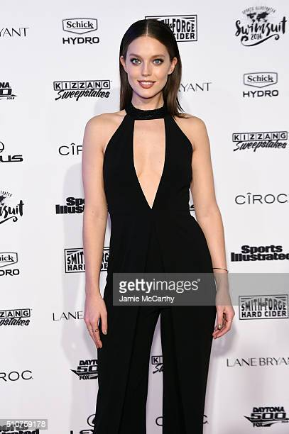 Model Emily DiDonato attends the Sports Illustrated Swimsuit 2016 NYC VIP press event on February 16 2016 in New York City