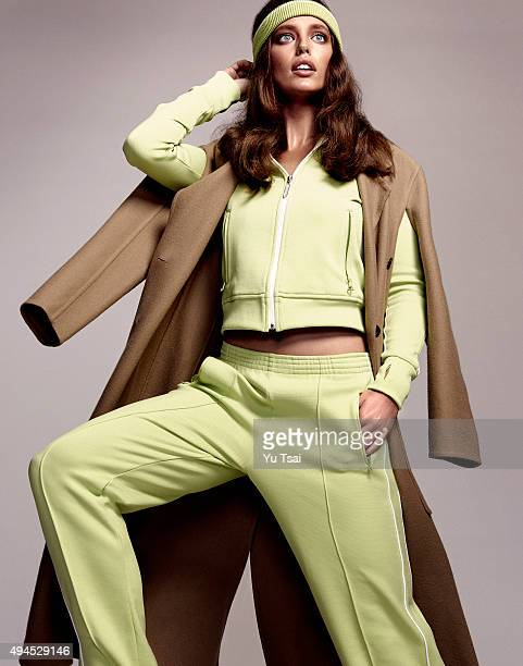 Model Emily DiDonato is photographed for a fashion editorial for Glamour Spain on July 7 2015 in Los Angeles California ON DOMESTIC EMBARGO UNTIL...