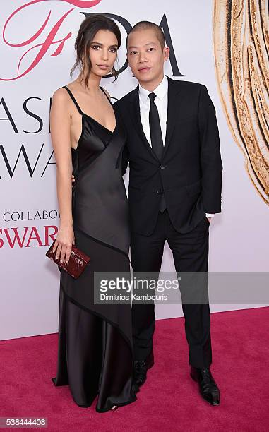 Model Emily Ratajkowski and designer Jason Wu attend the 2016 CFDA Fashion Awards at the Hammerstein Ballroom on June 6 2016 in New York City