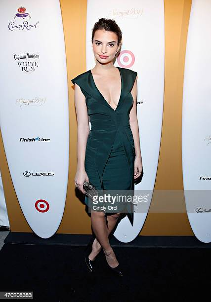 Model Emily Ratajkowski attends as Captain Morgan White Rum and Crown Royal XO raise a glass to the Sports Illustrated Swimsuit 50 Years of Swim...