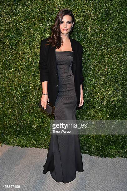 Model Emily Ratajkowski attends the 11th annual CFDA/Vogue Fashion Fund Awards at Spring Studios on November 3 2014 in New York City