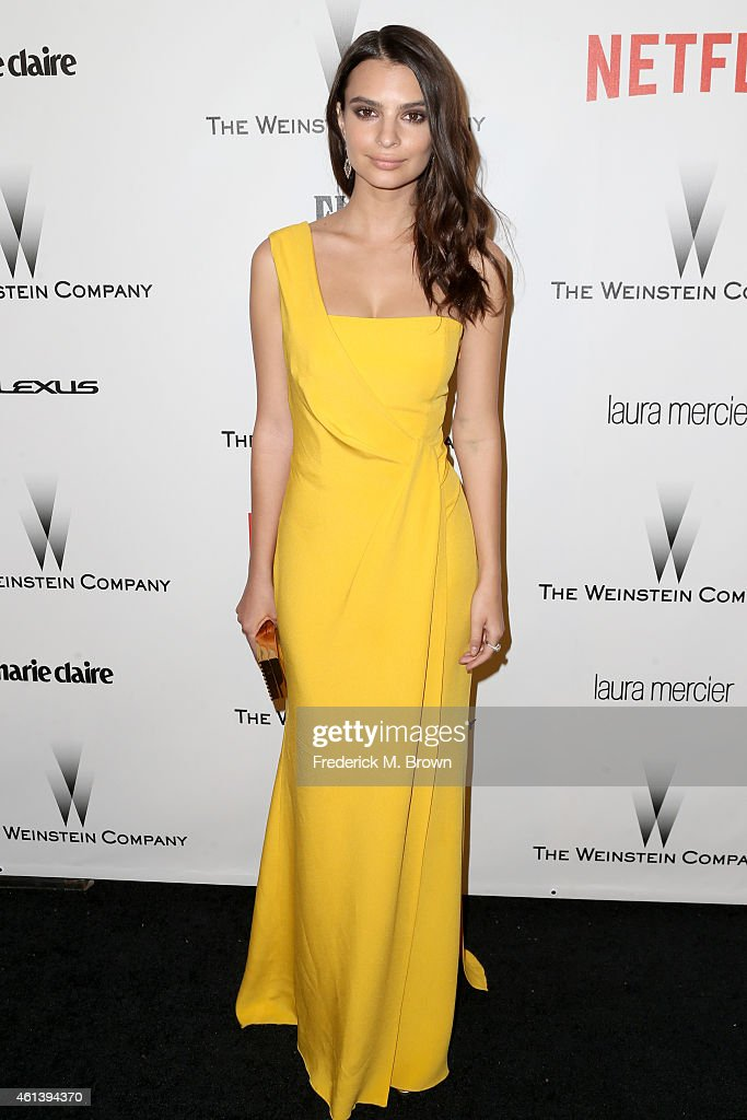 Model Emily Ratajkowski attends the 2015 Weinstein Company and Netflix Golden Globes After Party at Robinsons May Lot on January 11 2015 in Beverly...