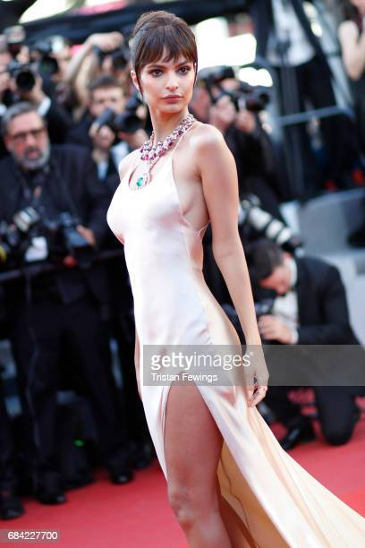 Model Emily Ratajkowski attends the 'Ismael's Ghosts ' screening and Opening Gala during the 70th annual Cannes Film Festival at Palais des Festivals...