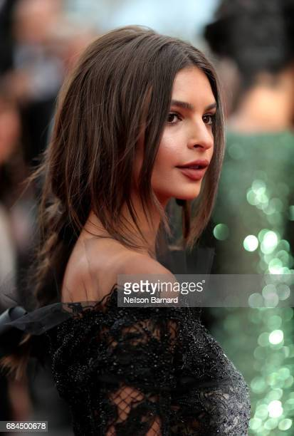 Model Emily Ratajkowski attends the 'Loveless ' screening during the 70th annual Cannes Film Festival at Palais des Festivals on May 18 2017 in...