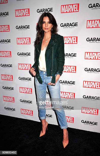 Model Emily Ratajkowski attends the Marvel and Garage Magazine New York Fashion Week Event on February 11 2016 in New York City