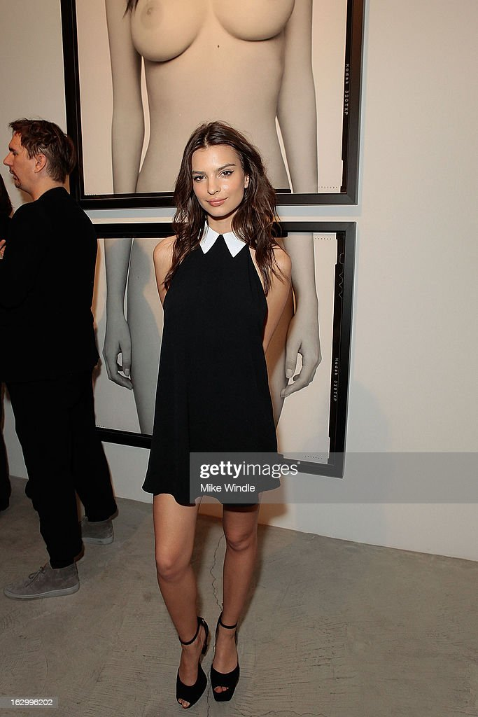 Model <a gi-track='captionPersonalityLinkClicked' href=/galleries/search?phrase=Emily+Ratajkowski&family=editorial&specificpeople=9198518 ng-click='$event.stopPropagation()'>Emily Ratajkowski</a> attends the Samuel Bayer Ace Gallery Exhibit Opening, presented by Panavision at Ace Gallery on March 2, 2013 in Beverly Hills, California.
