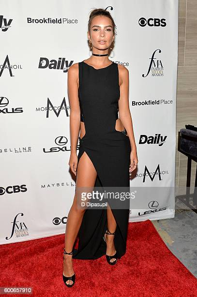 Model Emily Ratajkowski attends the The Daily Front Row's 4th Annual Fashion Media Awards at Park Hyatt New York on September 8 2016 in New York City