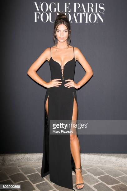 Model Emily Ratajkowski attends Vogue Foundation Dinner during Paris Fashion Week as part of Haute Couture Fall/Winter 20172018 at Musee Galliera on...