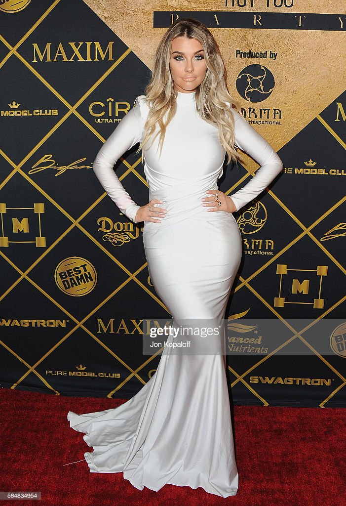 Model Emily Sears arrives at the Maxim Hot 100 Party at the Hollywood Palladium on July 30, 2016 in Los Angeles, California.