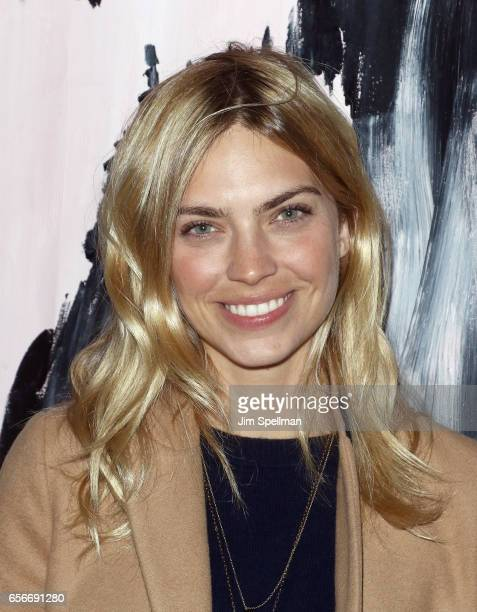 Model Emily Senko attends the after party for the screening of 'The Blackcoat's Daughter' hosted by A24 and DirecTV with The Cinema Society at Jimmy...
