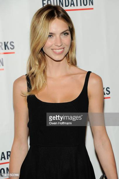 Model Emily Senko attends the Gordon Parks Foundation Awards Dinner Auction at Cipriani 42nd Street on June 6 2017 in New York City