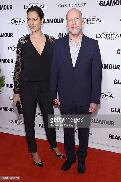Model Emma Heming and actor Bruce Willis attend the Glamour 2014 Women Of The Year Awards at Carnegie Hall on November 10 2014 in New York City