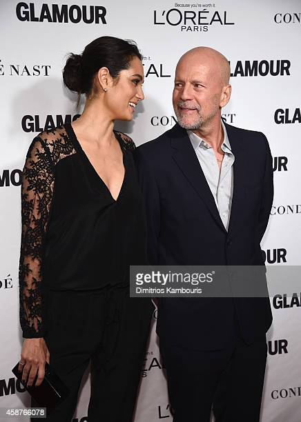 Model Emma Heming and actor Bruce Willis attends the Glamour 2014 Women Of The Year Awards at Carnegie Hall on November 10 2014 in New York City