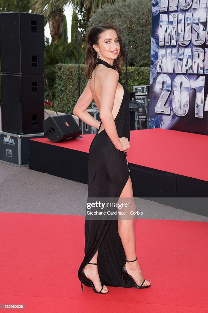 Model Emma Miller arrives at the World Music Awards at Sporting Monte-Carlo on May 27, 2014 in Monte-Carlo, Monaco.