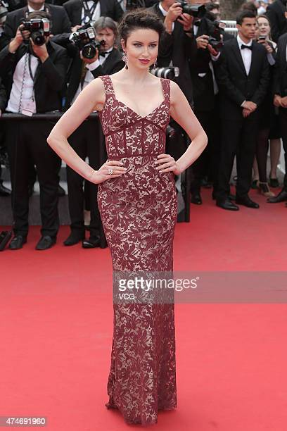 Model Emma Miller attends the closing ceremony and 'Le Glace Et Le Ciel' Premiere during the 68th annual Cannes Film Festival on May 24 2015 in...