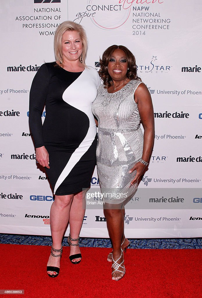 Model Emme (L) and <a gi-track='captionPersonalityLinkClicked' href=/galleries/search?phrase=Star+Jones&family=editorial&specificpeople=202645 ng-click='$event.stopPropagation()'>Star Jones</a> attend NAPW 2014 Conference at Marriott Marquis Hotel on April 24, 2014 in New York City.