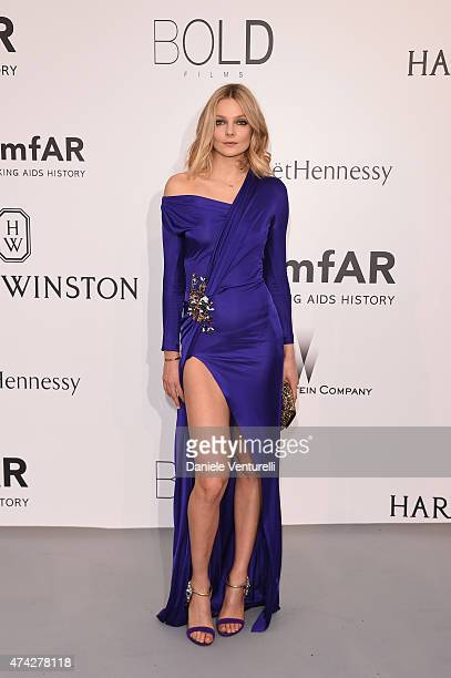 Model Eniko Mihalik attends amfAR's 22nd Cinema Against AIDS Gala Presented By Bold Films And Harry Winston at Hotel du CapEdenRoc on May 21 2015 in...