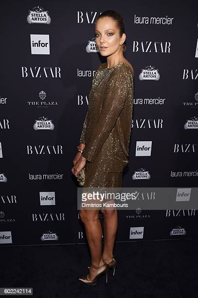 Model Eniko Mihalik attends Harper's Bazaar's celebration of 'ICONS By Carine Roitfeld' presented by Infor Laura Mercier and Stella Artois at The...