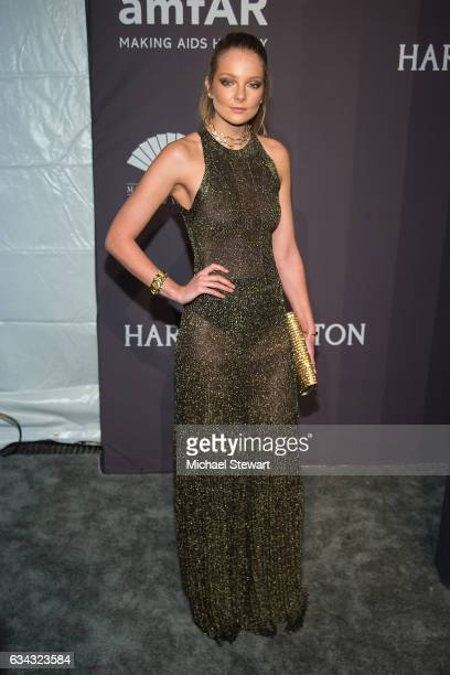 Model Eniko Mihalik attends the 19th Annual amfAR New York Gala at Cipriani Wall Street on February 8 2017 in New York City