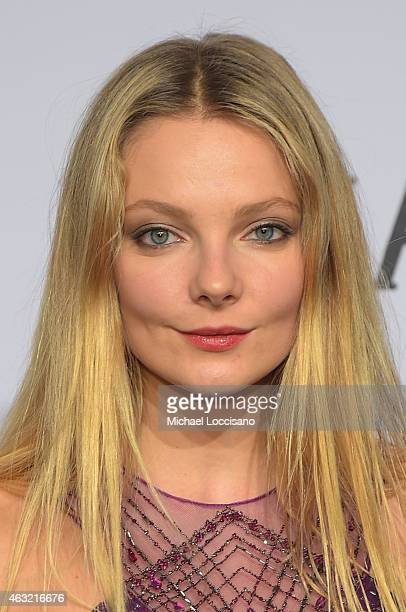 Model Eniko Mihalik attends the 2015 amfAR New York Gala at Cipriani Wall Street on February 11 2015 in New York City