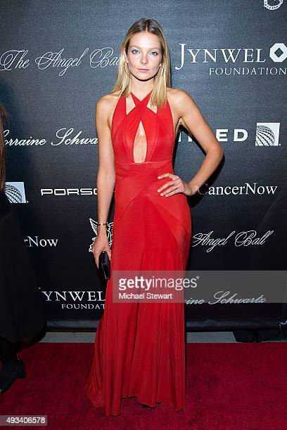 Model Eniko Mihalik attends the 2015 Angel Ball at Cipriani Wall Street on October 19 2015 in New York City