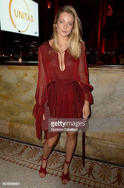 Model Eniko Mihalik attends the UNITAS 2nd annual gala against human trafficking at Capitale on September 13 2016 in New York City