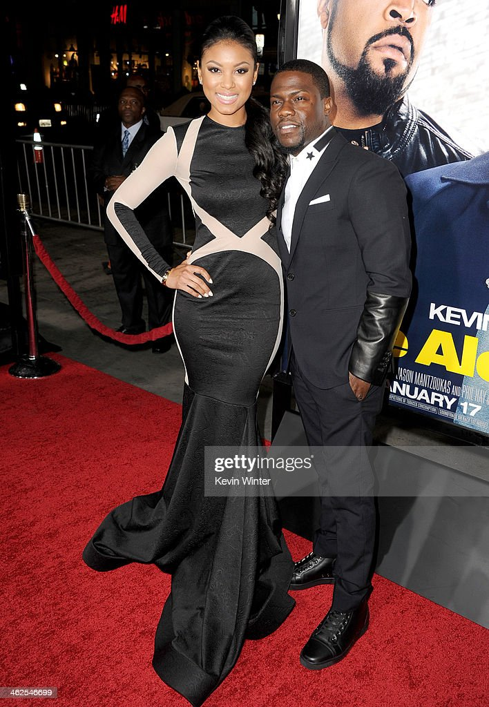 Model Eniko Parish and actor Kevin Hart attend the Premiere Of Universal Pictures' 'Ride Along' at TCL Chinese Theatre on January 13, 2014 in Hollywood, California.