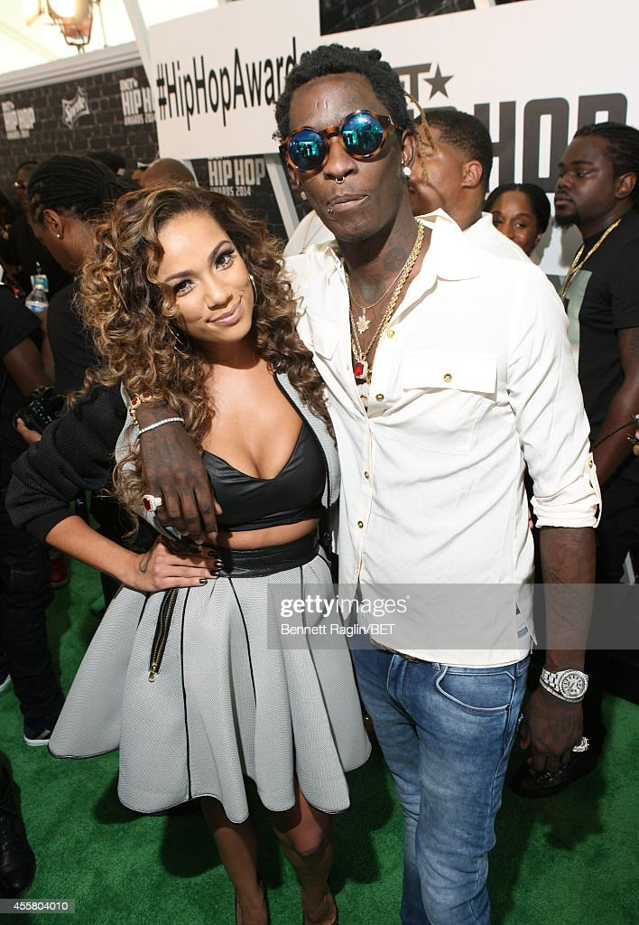 Model Erica Mena and rapper Young Thug attends the BET Hip Hop Awards 2014 Style Stage at Boisfeuillet Jones Atlanta Civic Center on September 20...