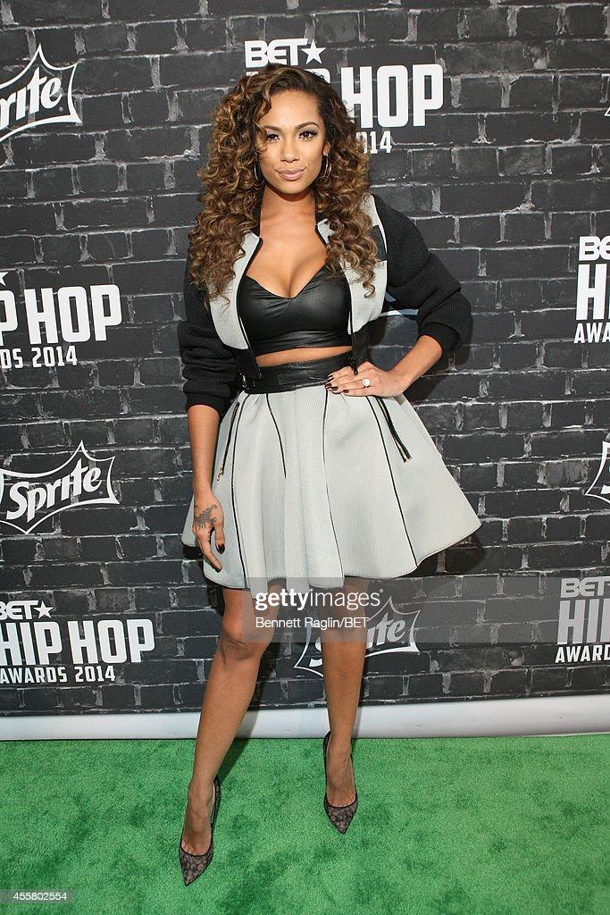 Model Erica Mena attends the BET Hip Hop Awards 2014 Style Stage at Boisfeuillet Jones Atlanta Civic Center on September 20 2014 in Atlanta Georgia