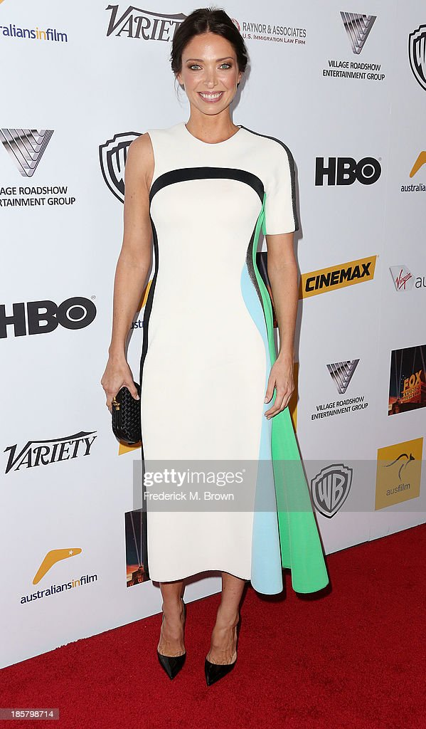 Model <a gi-track='captionPersonalityLinkClicked' href=/galleries/search?phrase=Erica+Packer&family=editorial&specificpeople=4616096 ng-click='$event.stopPropagation()'>Erica Packer</a> attends the Australians in Film Benefit Dinner at the at Intercontinental Hotel on October 24, 2013 in Beverly Hills, California.