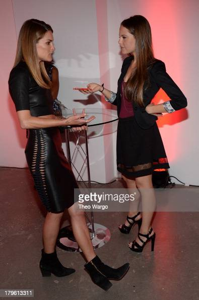 Model Erica Wasson and writer Hilary Sheinbaum attend the VEVO and Styled To Rock Celebration hosted by Actress Model and Styled to Rock Mentor Erin...