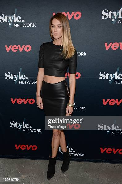 Model Erica Wasson attends the VEVO and Styled To Rock Celebration Hosted by Actress Model and Styled to Rock Mentor Erin Wasson with Performances by...