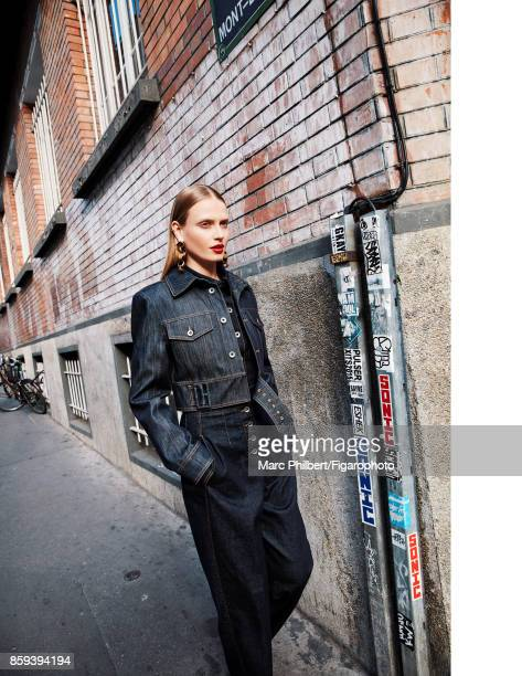 Model poses at a fashion shoot for Madame Figaro on July 21 2017 in Paris France All PUBLISHED IMAGE CREDIT MUST READ Marc...