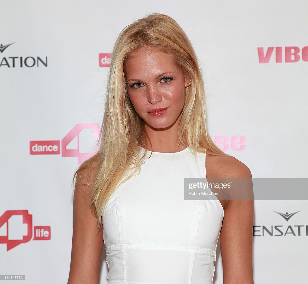 Model Erin Heatherton attends dance4life Cocktail Party at Milk Studios on October 27, 2012 in New York City.