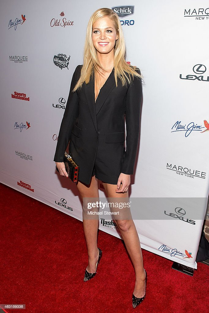 Model Erin Heatherton attends the 2015 Sports Illustrated Swimsuit Issue celebration at Marquee on February 10 2015 in New York City