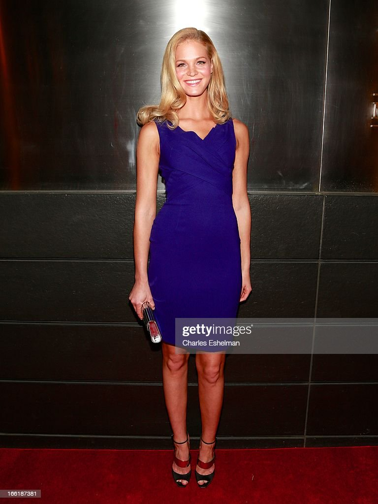 Model Erin Heatherton attends the New Yorker's For Children's 10th Anniversary A Fool's Fete Spring Dance at Mandarin Oriental Hotel on April 9, 2013 in New York City.