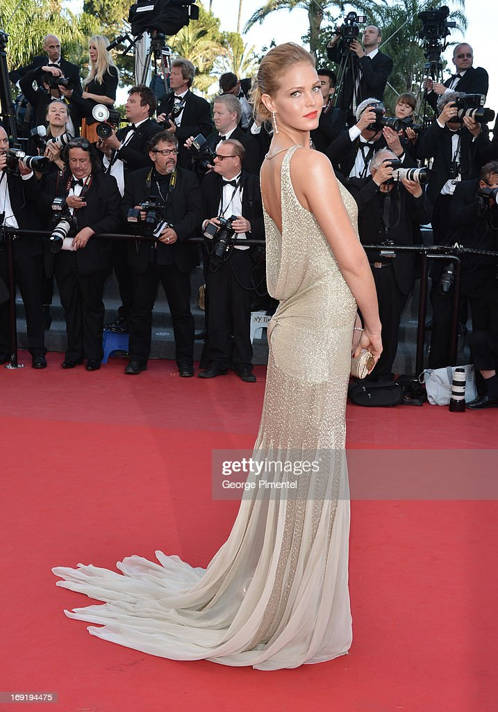 Model Erin Heatherton attends the Premiere of 'Behind the Candelabra' at The 66th Annual Cannes Film Festival on May 21, 2013 in Cannes, France.