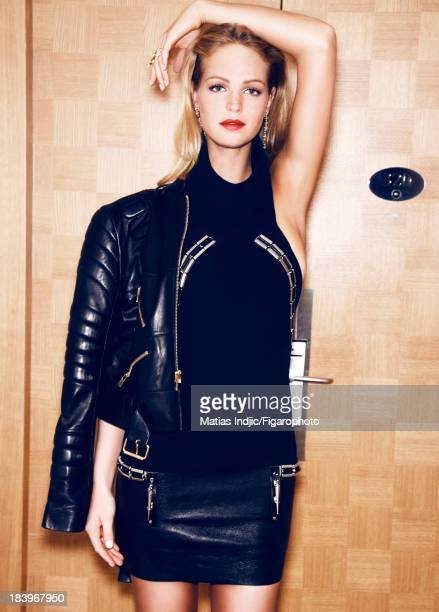 106860014 Model Erin Heatherton is photographed for Madame Figaro on May 29 2013 in Cannes France Dress jacket ring PUBLISHED IMAGE CREDIT MUST READ...
