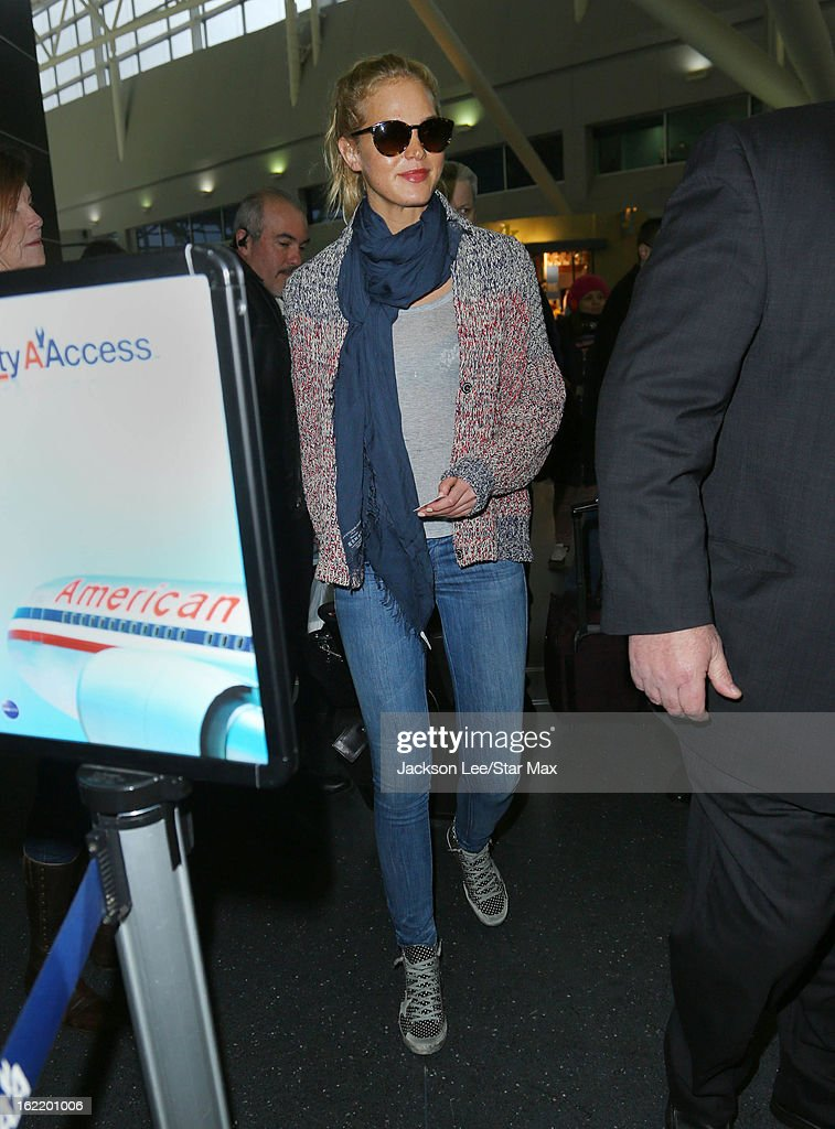 Model <a gi-track='captionPersonalityLinkClicked' href=/galleries/search?phrase=Erin+Heatherton&family=editorial&specificpeople=5003810 ng-click='$event.stopPropagation()'>Erin Heatherton</a> is seen on February 19, 2013 at JFK International in New York City.