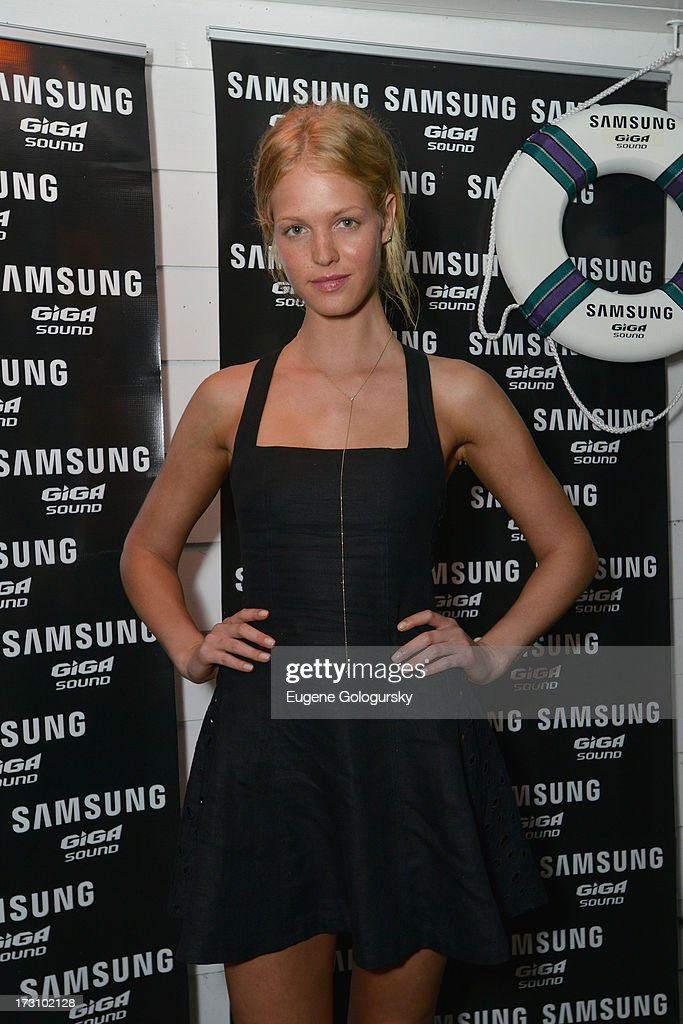 Model Erin Heatherton The Surf Lodges Summer DJ Series to launch the new Samsung Giga speaker system in Montauk, NY on July 7th, 2013